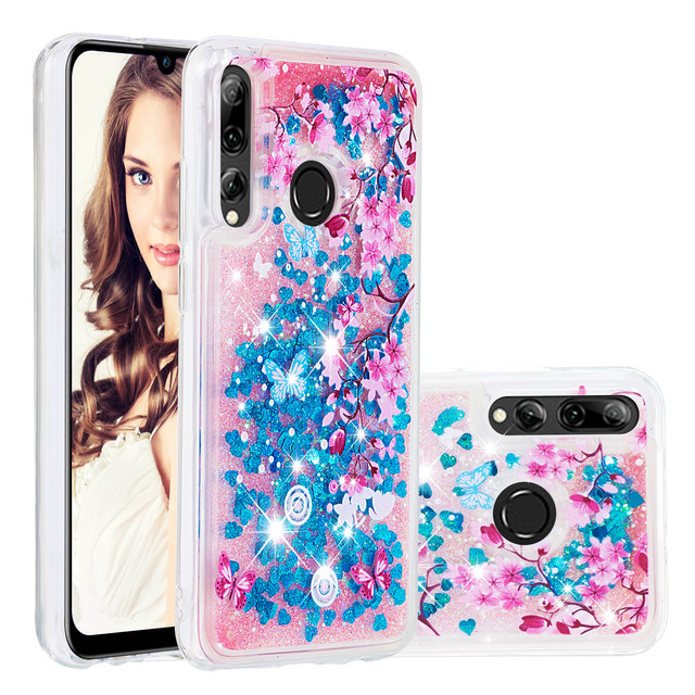 Telefono Cellulare di lusso Custodie Per Huawei P20 Lite Honor 10i 8A 8S Y7 Y6 Y9 Pro Prime Godere 9 Caso glitter Liquido Sabbie Mobili Del Respingente di TPU Coque