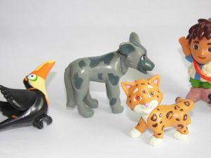 "Image 3 - GO,Diego,GO 5pcs and 6pcs Dora The Explorer US Original Order Children Toys Dora Diego and Animals Dolls 5cm 2"""