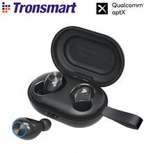 سماعات لاسلكية من Tronsmart بتقنية Bluetooth مع رقاقة QualcommChip IPX5 ، CVC 8.0 ، التحكم باللمس ، مساعد صوت