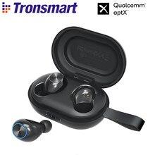 Tronsmart fones de ouvido spunky beat tws, fones de ouvido sem fio com bluetooth, qualcommchip ipx5, cvc 8.0, controles por toque e assistente de voz