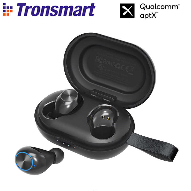 Tronsmart Spunky Beat-auriculares TWS, inalámbricos por Bluetooth, auriculares con chip Qualcomm IPX5 ,CVC 8,0, Control táctil, asistente de voz