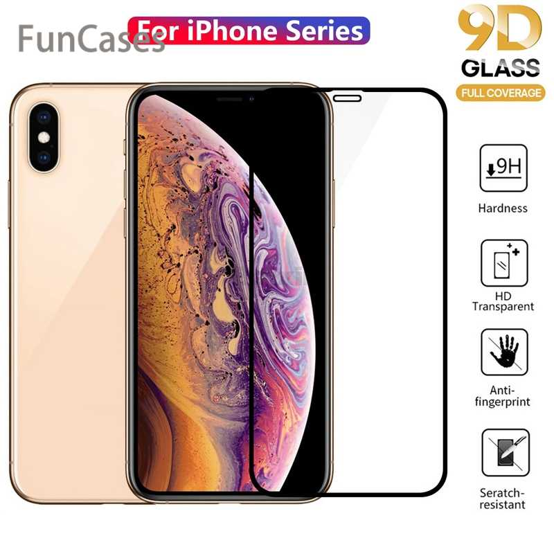 9D Full Cover Protective Glass for iPhone 11 Pro Max 6 6S 7 8 Plus X XR XS MAX Screen Protector Front Film Tempered Glass
