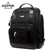 BOPAI מותג משולב נסיעות תרמיל תיק כתפי קיבולת גדולה תיק מחשב נייד תרמיל אופנה גברים תרמיל גודל 43*35*20cm