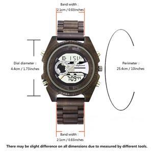 Image 4 - Shifenmei antigo natural digital men relógios led display gravado de madeira luminosa mão meninos relógios marca masculino feminino