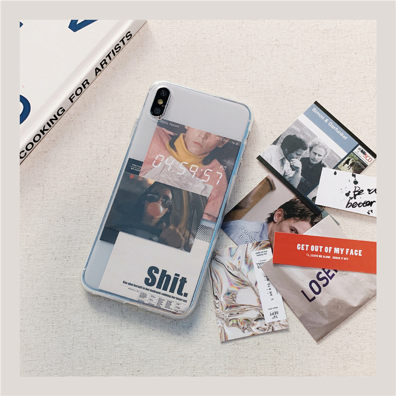 DIY Card Transprent Phone Case For iphone 11 Pro Max 7 8 plus Back Cover For iphone X XR XS max Max Cute Letter Soft Cases Capa