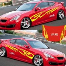 1Set 3D Flame Totem Car Stickers Decals Full Body Car Vehicle Styling Vinyl Waterproof Sticker