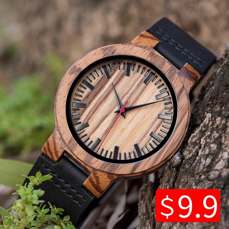 Presente de Aniversário Feito sob Encomenda do Ofício da Madeira do Relógio da Promoção do Woodme do Relógio Presentes de Natal na Caixa de Relógio de Pulso de Couro Woodme Relógio Masculino do