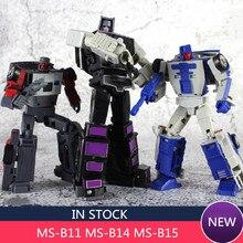 Nova transformação magic square menasor MS-B11 motormaster MS-B14 beat back breakdown MS-B15 collide wildrider figura de ação