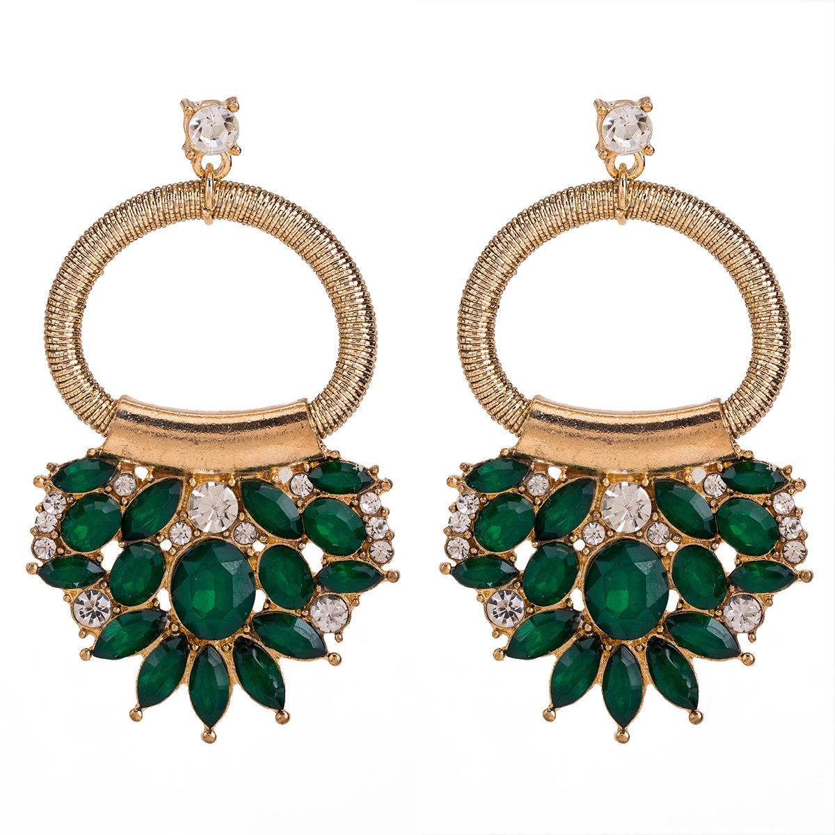 2019 Za Unique Design Women Statement Jewelry Colorful Crystal Beads Drop Earrings For Women Ladies Bohemia Wedding Gifts Party in Drop Earrings from Jewelry Accessories