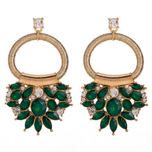 2019 Za Unique Design Women Statement Jewelry Colorful Crystal Beads Drop Earrings For Ladies Bohemia Wedding Gifts Party