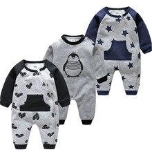 Baby Romper Penguin Onesie Zipper Infants Toddler Boys Velvet Fall