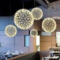 Moderne LED Runde Hängen Lampe Wohnzimmer Kleidung Shop Funken Ball Lichter Luxus Hotel Edelstahl Leuchte Beleuchtung