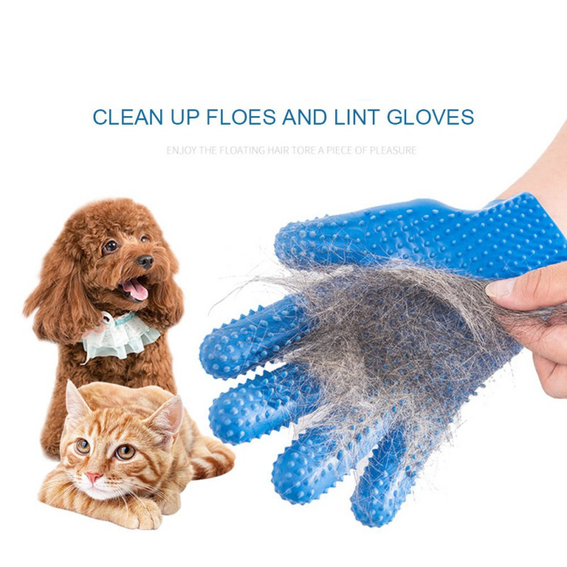 1PC Pet Dog Gloves Brushes Grooming Right Hand Massage Comb Pet Cleaning Beauty Massage Bath Five Finger New Brush Gloves Supply