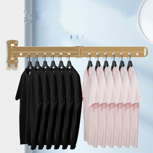 Folding Drying Rack Wall Mounted Telescopic Clothes Rack Indoor And Outdoor Simple Clothes Hanger Clothes Hook Clothesline