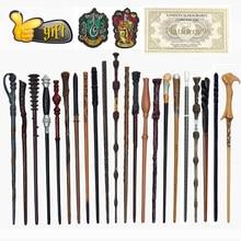 27 tipos de metal núcleo varinhas mágicas cosplay voldmort hermione varinha mágica pano harried etiqueta bilhete como bônus sem caixa