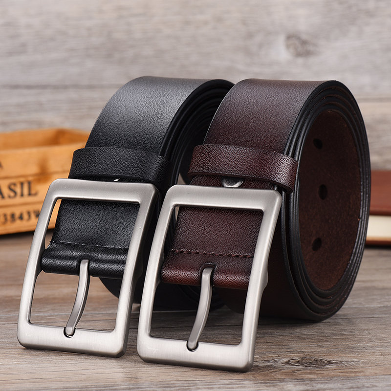 Image 2 - NO.ONEPAUL Men belt High Quality cow genuine leather luxury strap male belts for men new fashion classice vintage pin buckle-in Men's Belts from Apparel Accessories