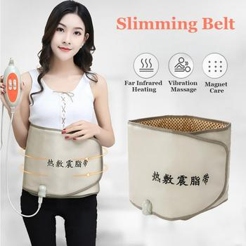 Hot Compress Far Infrared Heating Slimming Belt Vibrating Weight Loss Massager Fitness Device Lose
