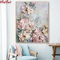 5D алмазная картина с цветами, розами и пионами, полностью квадратная круглая Алмазная мозаика, алмазная вышивка крестиком, домашний декор