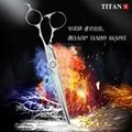 Профессиональные Парикмахерские ножницы Titan VG10, стальные ножницы для стрижки и филировки волос