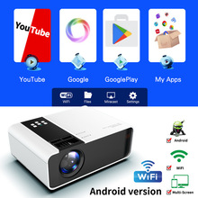 W10 Projector Home Theater 1280*720P Support 4K Videos WIFI Connect Phone Multi-
