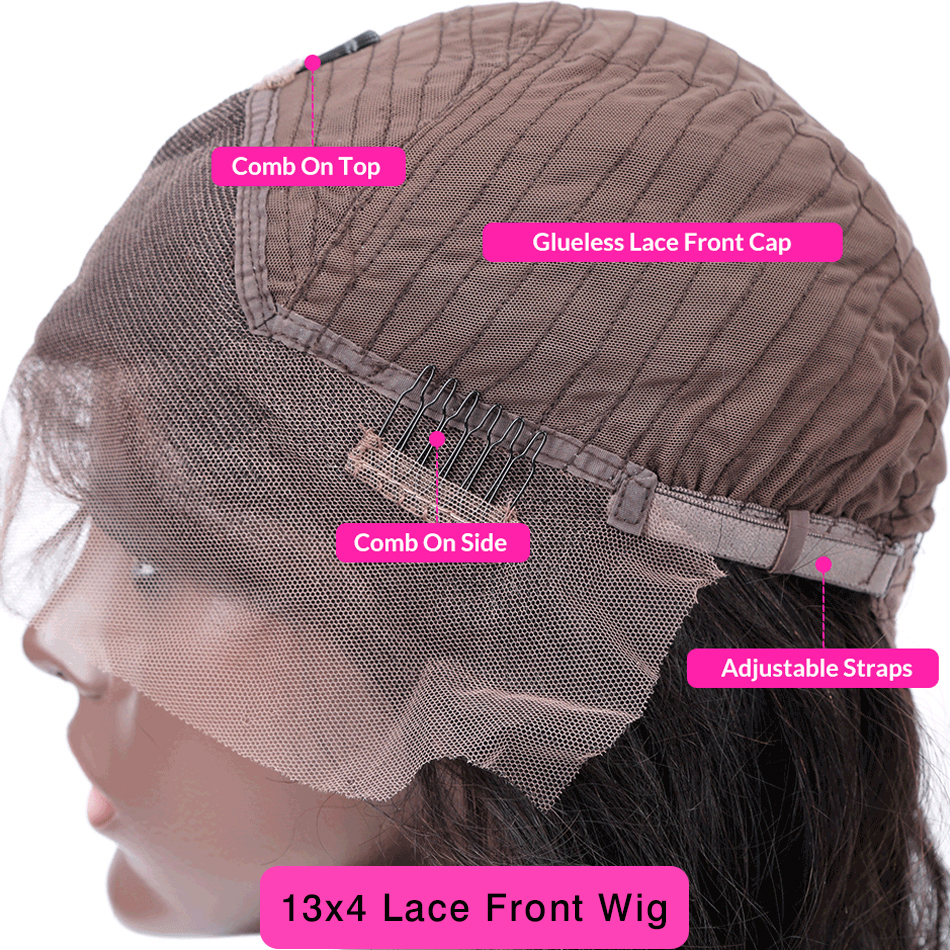 Curly Lace Front Wigs  With Baby Hair 13x4 Lace Frontal   150% Preplucked Bleached Knots Flowerseason 6