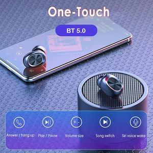 Image 4 - Auriculares inalámbricos B5 TWS Bluetooth 5,0 con Control táctil, auriculares de música estéreo 9D resistentes al agua con batería externa de 300mAh