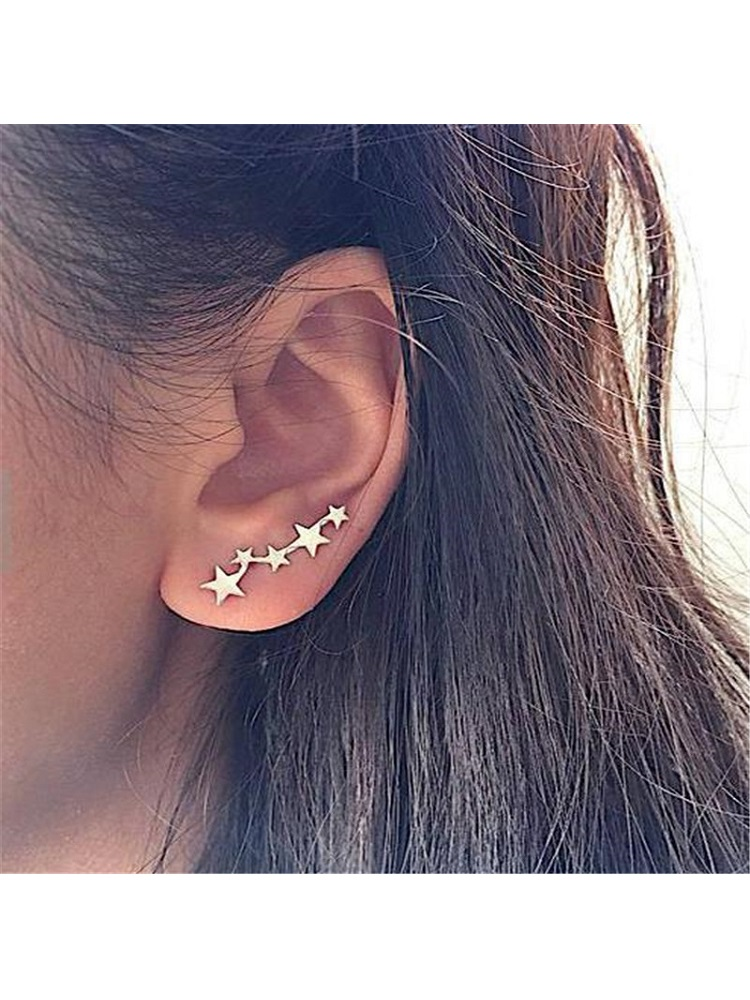 New Earrings Ear-Clip Nail Korean-Edition Exquisite Jewelry Spike Hot-Sale Fashion Simple