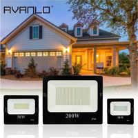 1 stücke ac220v 10W 20W50W 100W 200W 300W 400W Led Flutlicht Spot Lampe SMD IP66 für Nacht Bau Parkplatz Indoor/Outdoor Deco