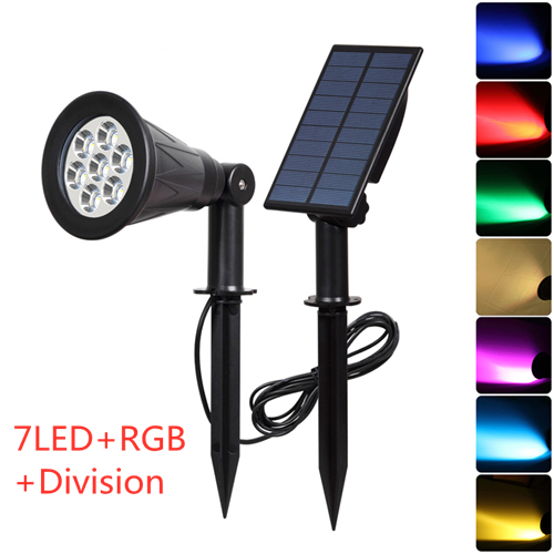 T-SUNRISE-7-LED-Solar-Spotlight-With-Solar-Panel-Auto-Color-Changing-Outdoor-Lighting-Solar-Powered
