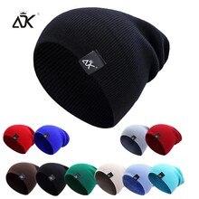 Adk örme şapka sıcak bere adam için Hip Hop kış şapka Unisex düz renk Bonnet rahat Skullies Beanies sonbahar kapaklar yetişkinler için