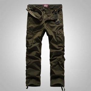 Image 3 - سراويل كبيرة الحجم للرجال والسيدات للربيع والشتاء سراويل واسعة الساق سراويل ركض للرجال ملابس عسكرية مموهة
