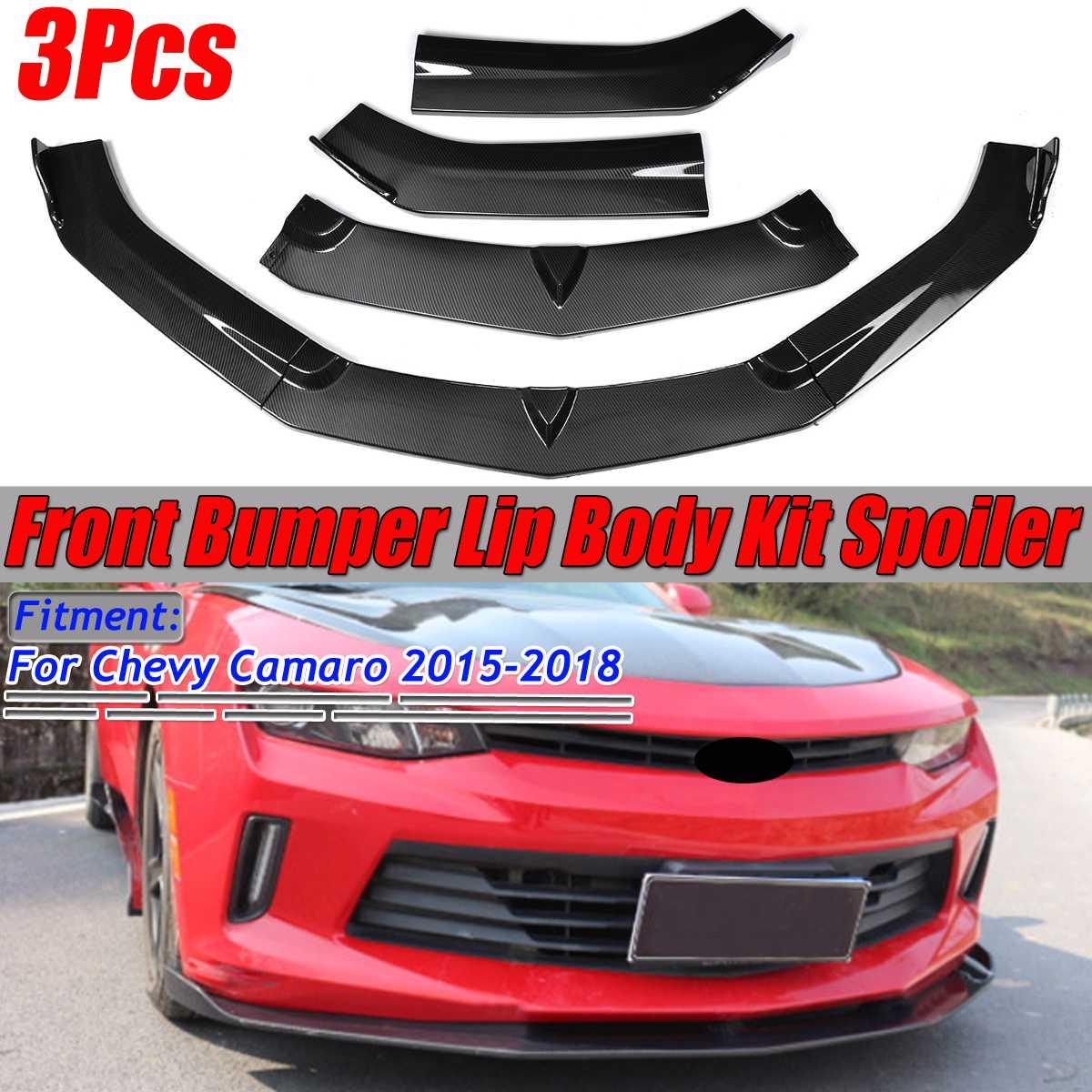 High Quality Car Front Bumper Splitter Lip Diffuser Guard Spoiler Splitters Body Kit For Chevy For Camaro 2015 2016 2017 2018