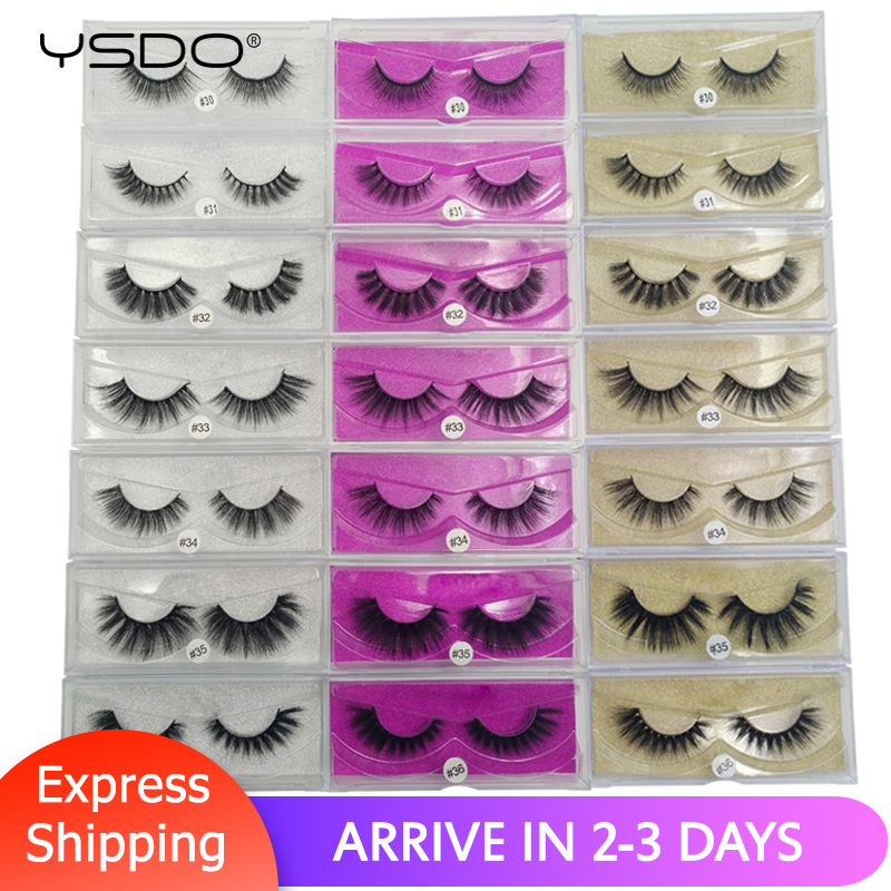 YSDO Lashes 1 Pair 3d Mink Lashes Natural False Eyelashes Lashes Maquillaje Soft Mink Eyelashes Dramatic Eyelashes Faux Cilios