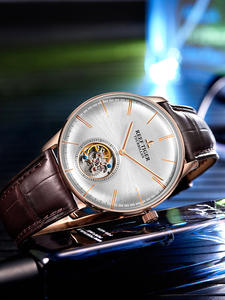 Automatic Watches RGA1930 Genuine-Leather Tiger/rt Luxury Brand Rose-Gold Blue Strap