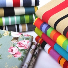 Canvas Fabric Sofa Cover Thickened Cotton Tablecloth Curtains Pillow Cloth Striped Floral Flower Geometry Printed Sewing Brocade