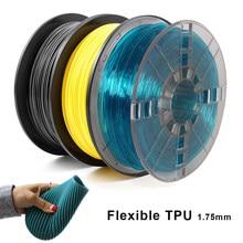 Filamento 1.75 kg/0.5kg do plástico da impressora 3d da sublimação não-tóxica da bolha filamento flexível da impressão de 0.25mm tpu 3d nenhum material plástico