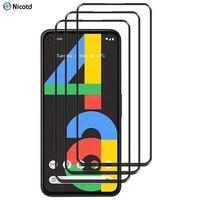 3 pezzi di vetro temperato a copertura totale per Google Pixel 4a 5g 3a Pixel 1 2 3 4 5 pellicola salvaschermo per Google Pixel 4 3a 2 XL vetro