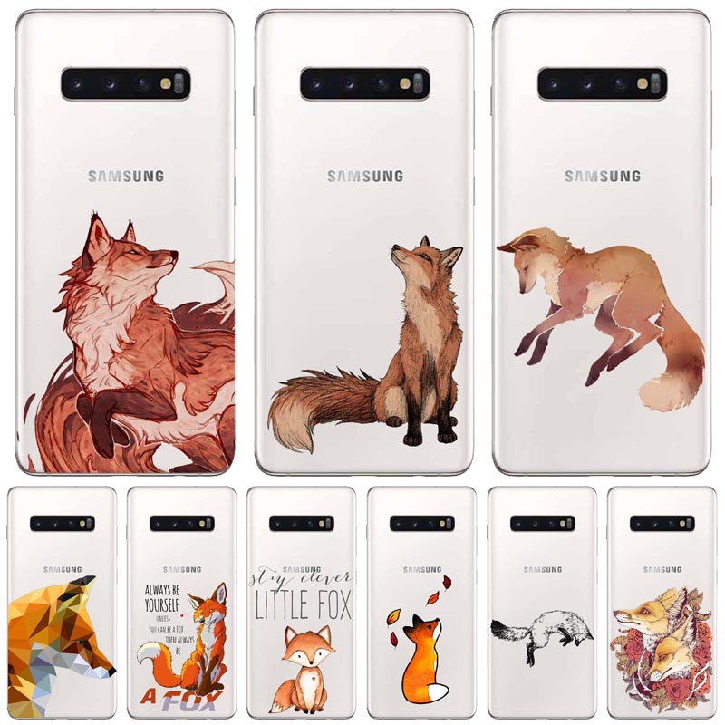Anime <font><b>funny</b></font> foxs lovely cute kawaii Suave silicone Phone <font><b>Case</b></font> For <font><b>Samsung</b></font> Glaxy S/<font><b>Note</b></font> 6 7 8 <font><b>9</b></font> 10 Lite Pro <font><b>Cases</b></font> Fundas Coque image