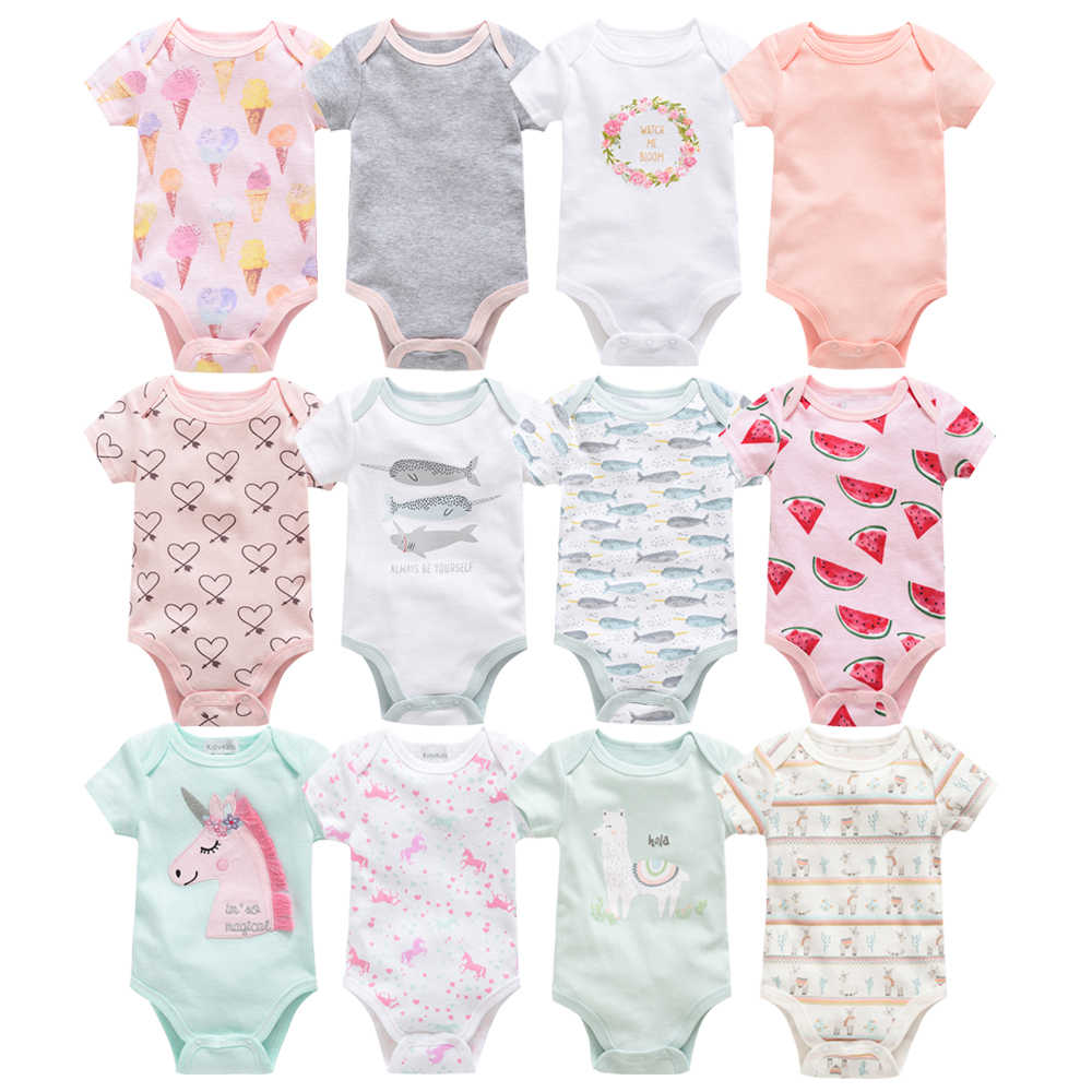 2019 Honeyzone Summer body bebe twins baby clothes Short Sleeve Full Cartoon Baby Girl Bodysuit ropa de bebe Baby boy Jumpsuit