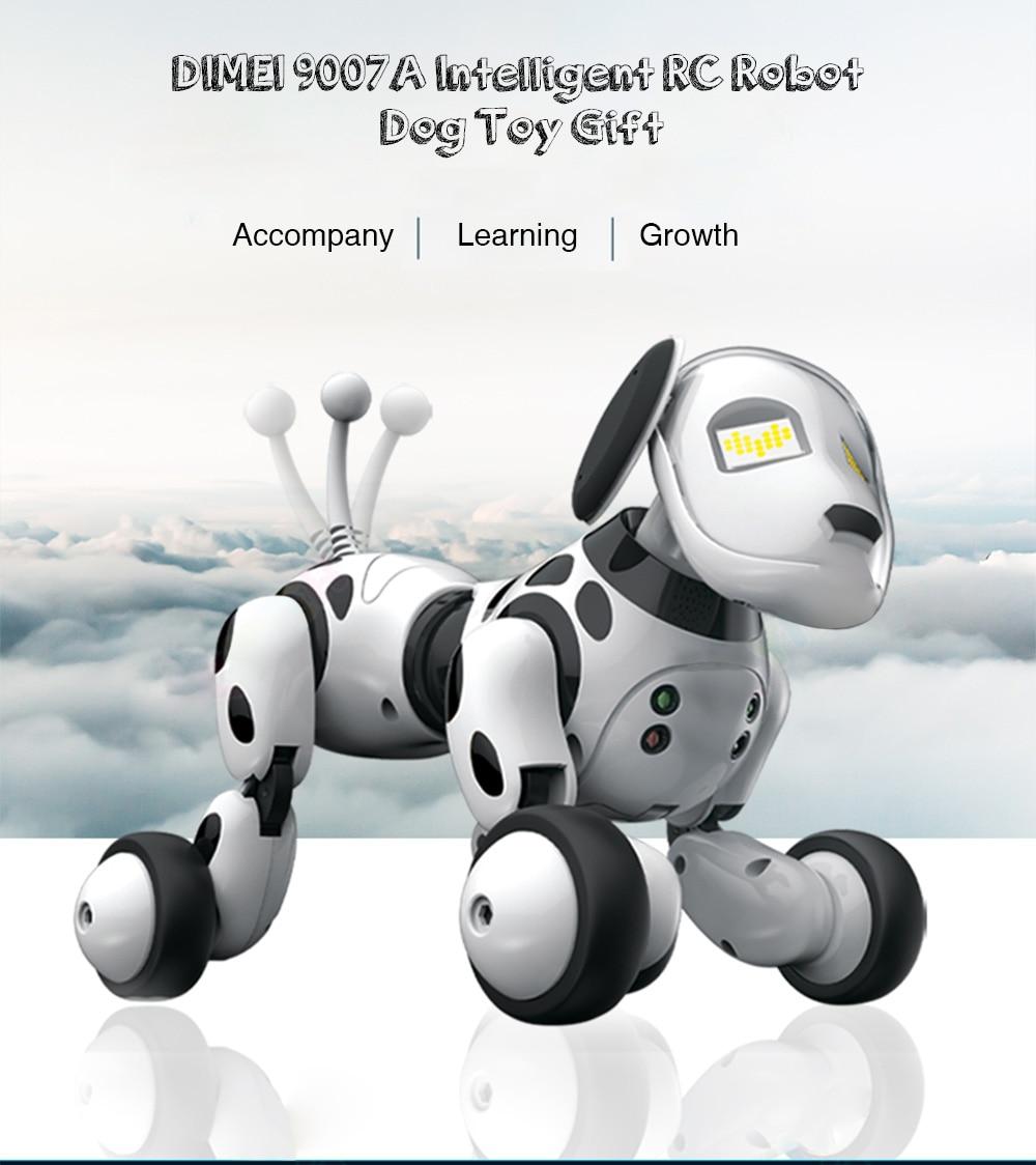 2 4g robo de controle remoto sem fio inteligente cao danca eletronica pet musica educacional interativo