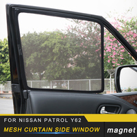For Nissan Patrol Y62 7pcs Auto Car styling Mesh Curtain Side Window Sunshades Trim Covers Interior Accessories