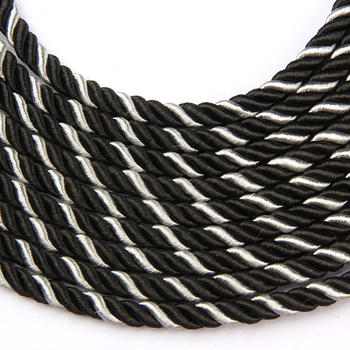 1m/Bag 3 Shares Twisted Cords Twisted Cotton Black Blue Rope For Bag Clothes Pillow DIY Home Decoration Rope Accessories 2