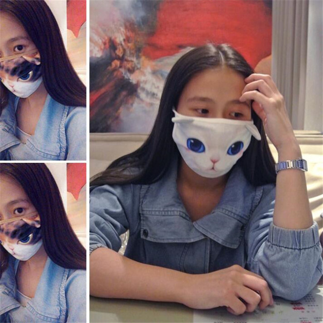Cartoon lovely animal masks for girl women cute anti-fog cotton fashion mask autumn winter spring masks flu virus 1