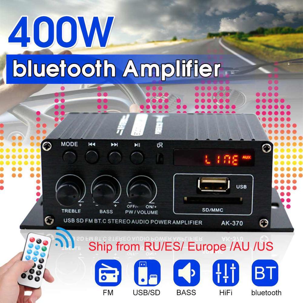 400 Вт 2*200 Вт стерео Hifi автомобильный домашний сабвуфер автомобильный звуковой усилитель звуковой динамик цифровой EDR аудио светодиодный Уси...