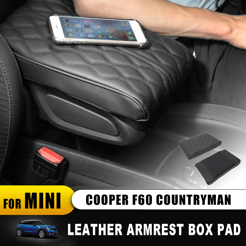 Interior Leather Increase Pad For mini cooper F60 F 60 Countryman Armrest Box Pad mat Soft Car Accessories Car-styling