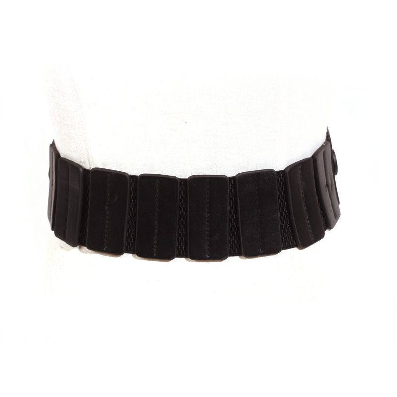 Luxury ladies wide belt elastic vintage buckle leather wide fashion wild pin buckle women's belt waist seal belt x208 4