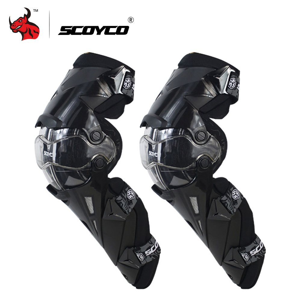 SCOYCO Motorcycle Knee Pad CE Motocross Knee Guards Motorcycle Protection Knee Motor-Racing Guards Safety Gears Race Brace