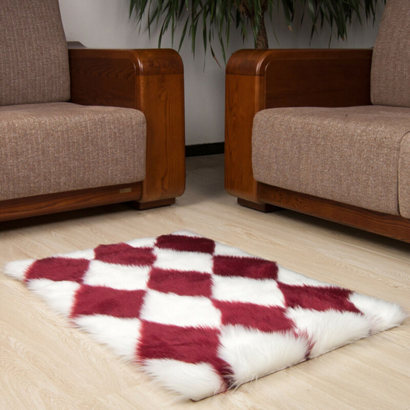 NEW Hairy Carpet Rectangular Carpets Faux Fur Living Room Rugs Bedroom Mats