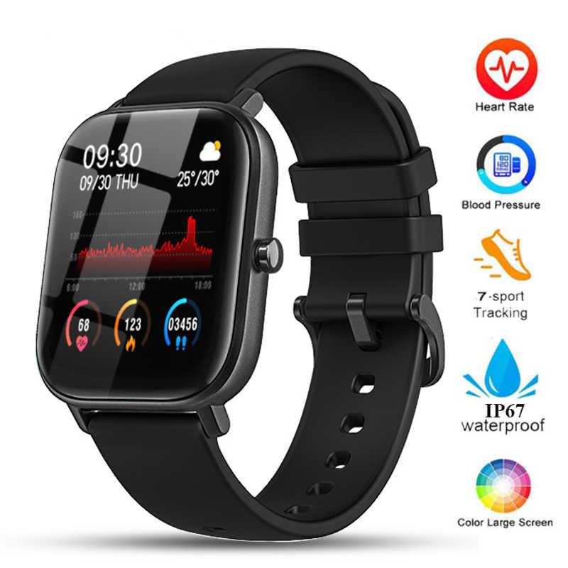 Inteligentny zegarek mężczyźni kobiety IP67 wodoodporna opaska monitorująca aktywność fizyczną pulsometr sportowy w pełni dotykowy Smartwatch dla Huami Amazfit GTS