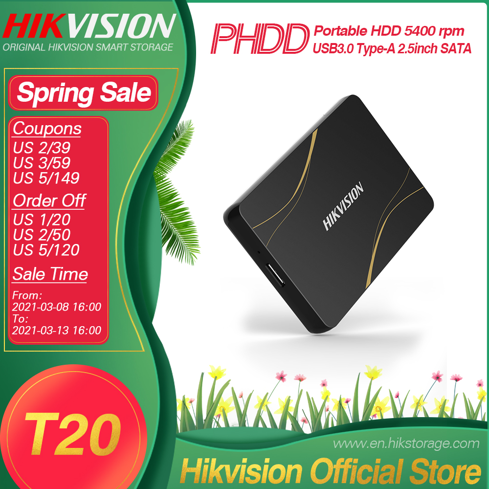 Hikvision HikStorage HDD ТБ портативный жесткий диск внешний жесткий диск USB Type-A Мобильный Внешний накопитель для ПК ноутбука